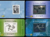 France: 4 timbres ARGENT  1