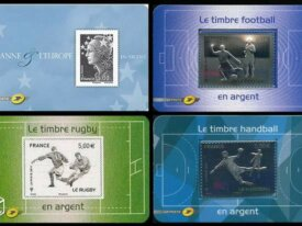 France: 4 timbres ARGENT