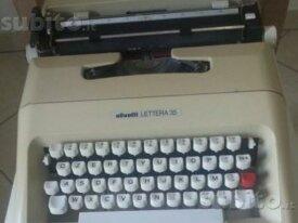 Macchina per scrivere vintage Olivetti Lettera 35