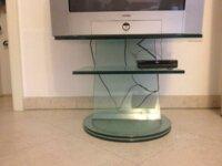 Porta TV in cristallo girevole  5
