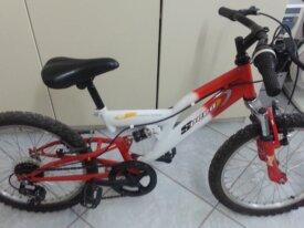 Bici mountain bike bi-ammortizzata