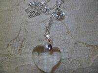 Collier Petit Coeur en Verre 1