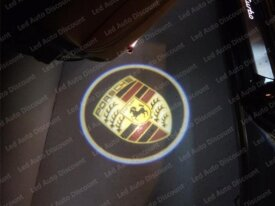 Logo Led bas de portes pour Porsche