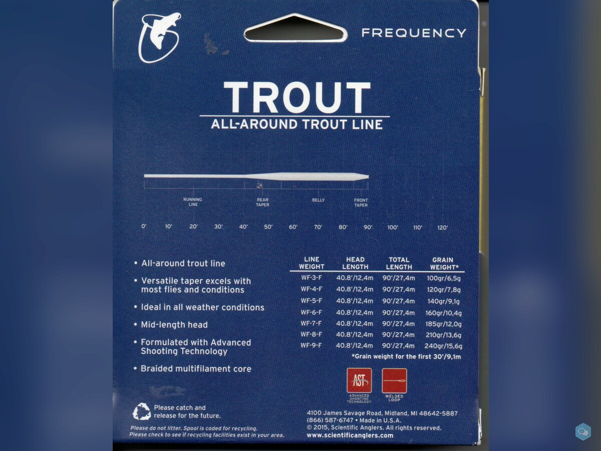 Linea Wf # 6 Flote Frecuency Sientific Anglers 2