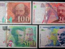 souvenir du Franc... Lot de 4 billets