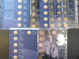 Série 10 ans de la monnaie en Euro avec feuilles -