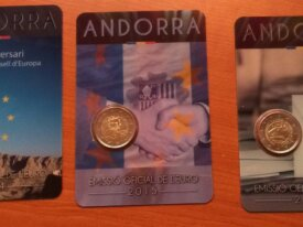 coincard 2 € Andorre 2014 et 2015