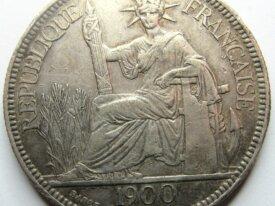 Colonie - Indochine - Piastre de commerce - 1900 -