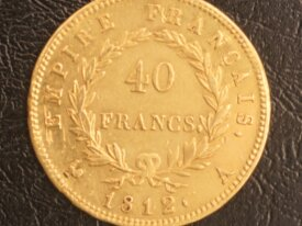 40 Francs Or Napoleon 1812 A