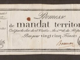 Assignat 25 FRANCS Promesse de Mandat Territorial