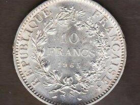 10 FRANCS 1965 Hercule - FRANCE - argent / silver
