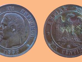 France 10 Centimes 1853BB