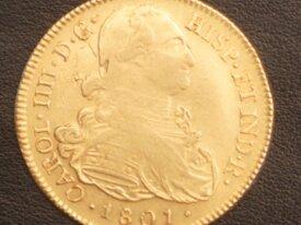8 Escudos Or 1801 Carlos IV