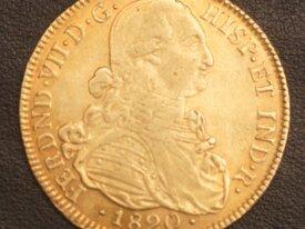 8 Escudos Or 1820 Fernando VII
