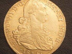 8 Escudos Or 1815 Fernando VII