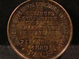 Médaille SOUVENIR CONCOURS DE QUATUORS - 1889