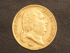 20 FRANCS OR LOUIS XVVIII 1817 Q