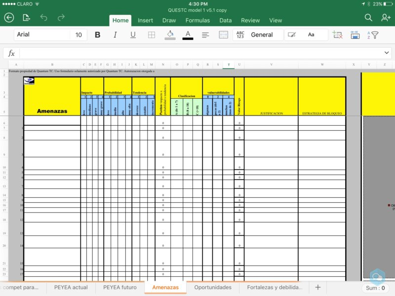 Formularios para plan estrategico 2
