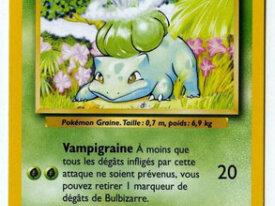 Carte pokémon de base - Bulbizarre
