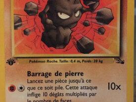 Carte Pokémon Bloc De Base Fossile - Racaillou