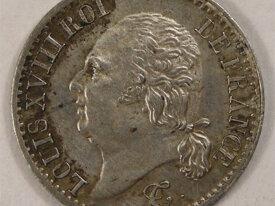 LOUIS XVIII 1/4 Franc 1824 A