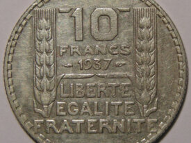 TURIN 10 Francs 1937