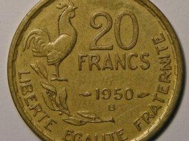 GUIRAUD 20 Francs 1950B 4 Plumes