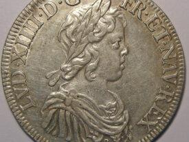 LOUIS XIV Ecu 1644 A