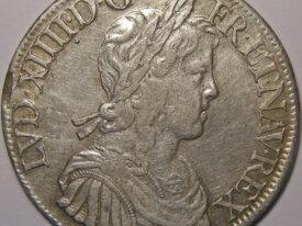 LOUIS XIV Ecu 1653 A