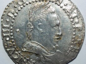 HENRI III - DEMI FRANC 1587 I LIMOGES - Superbe