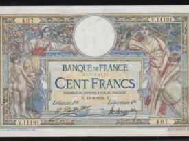 100 Francs 1924 FRANCE - V 11191 - Olivier Merson