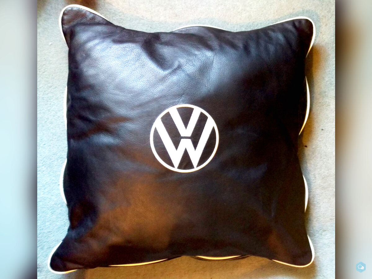 VW Embroidered Leather Cushions 1