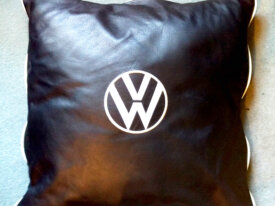 VW Embroidered Leather Cushions