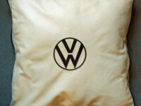 VW Embroidered Leather Cushions 2