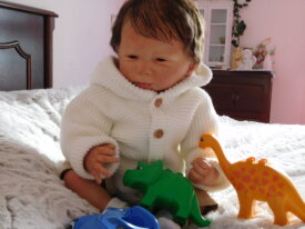 Joli reborn issu du kit Cathy d'Olga Auer
