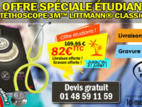Promo Stéthoscope 3M Littmann Classic III 1