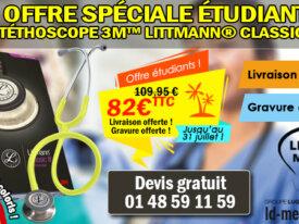 Promo Stéthoscope 3M Littmann Classic III