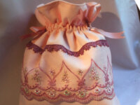 Sac romantique rose fermeture par ruban dentelle t 2