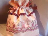 Sac romantique rose fermeture par ruban dentelle t 3