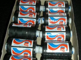 Lots de 2 bobines de fil noir polyester 1000m NEUF