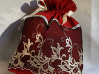 Fourre-tout rouge bordeaux, trousse de toilette, t 2