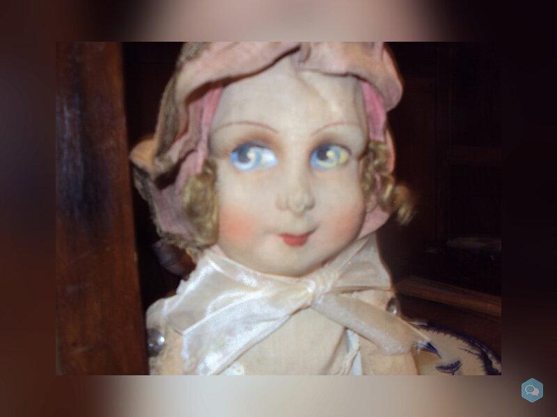 poupée de chiffon , visage peint 2