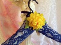 Cintre décoré romantique dentelle et fleurs or 2