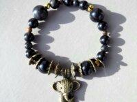 Bracelet Obsidienne noire, Œil-de-tigre - pierres  2
