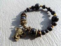 Bracelet Obsidienne noire, Œil-de-tigre - pierres  3