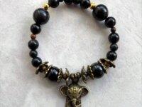 Bracelet Obsidienne noire, Œil-de-tigre - pierres  4