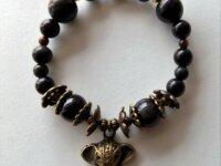 Bracelet Obsidienne noire, Œil-de-tigre - pierres  5