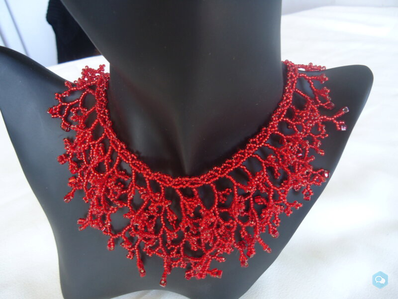 Collier corail rouge ruby 1