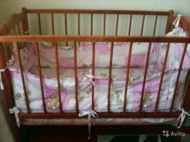 Продается детская кроватка с матрацем и бортиками