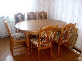Стол + 6 стульев из дуба